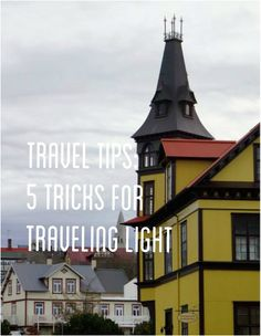 Travel Tip Tuesday - 5 tricks for packing light