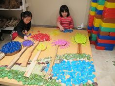 "Loose Parts Creation, ""The Path in the Forest"" (from Reggio Kids / Extraordinary Classroom)"