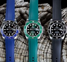 Everest Rubber replacement watch band for Rolex Submariner & GMT
