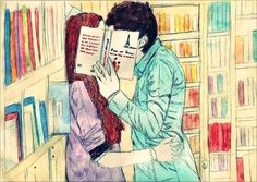 Find images and videos about girl, love and cute on We Heart It - the app to get lost in what you love. Desenhos Love, Book Nerd, Love Book, Book Worms, Book Lovers, Good Books, We Heart It, Drawings, Cute
