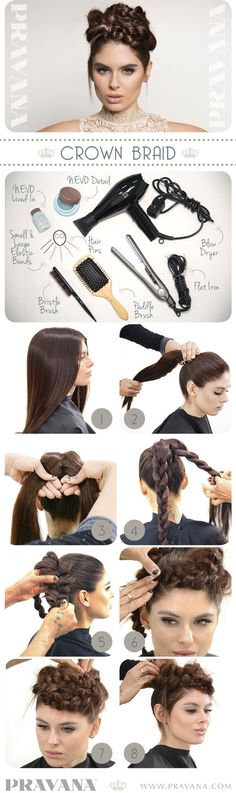 Nevo crown braid how-to