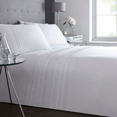 Debenhams White 'Clara Pleat' bedding set- at Debenhams.com