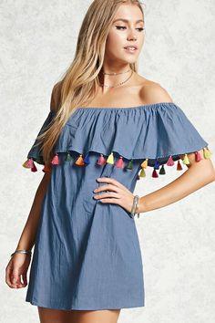 Vestido Borlas De Colores - Mujer - 2000086055 - Forever 21 EU Español