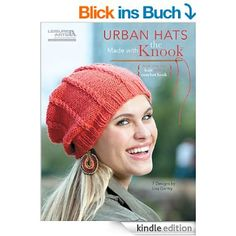 For a hat that says you're cool, use the hot new Knook to make one of these urban styles from Lisa Gentry. The Knook is a specialized crochet hook that creates true knitted fabric, while the attached cord completely prevents dropped stitches! Crochet Books, Crochet Crafts, Yarn Crafts, Crochet Patterns For Beginners, Knitting For Beginners, Tunisian Crochet, Knit Crochet, Crochet Stitches, Knooking