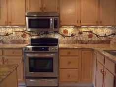15 Outstanding Kitchen Mosaic Backsplash Ideas That Are Worth Seeing Decorative Tile Backsplash, Easy Backsplash, Kitchen Backsplash, Kitchen Countertops, Hexagon Backsplash, Granite Backsplash, Beadboard Backsplash, Herringbone Backsplash, Chandeliers