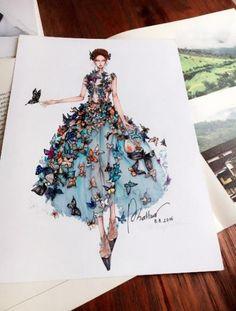 Fashion Sketchbook Textiles Ideas For 2019 Fashion Moda, Trendy Fashion, Fashion Art, Paper Fashion, Fashion Ideas, Fashion Sketchbook, Fashion Design Drawings, Fashion Sketches, Fashion Illustration Dresses