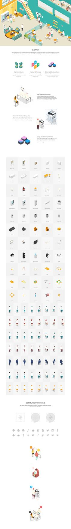 Isometric Office Pack on Behance