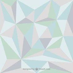 Fondo con formas de triángulos de colores suaves