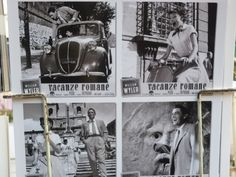 :) souvenir postcards in Rome from movie picture Roman Holiday, starting Audrey Hepburn.