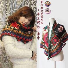 hecho a mano crochet capa térmica de la mujer de la moda babero hilado bufanda de punto en de en Aliexpress.com