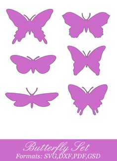Butterfly cut outs for Abby's room