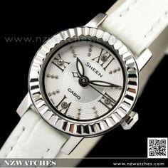 BUY Casio Sheen SWAROVSKI Genuine Leather Ladies Watch SHE-4036L-7A, SHE4036L - Buy Watches Online | CASIO NZ Watches