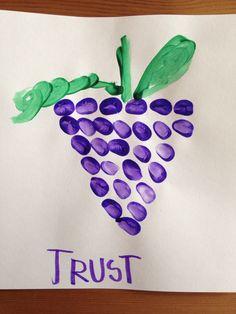 12 Spies Craft - Homeschool Kindergarten Craft - Bible Craft - Moses Craft - Fingerprint Grape Craft