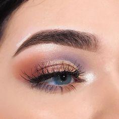 lavender & copper eyeshadow #EyeMakeupKorean #DiyEyeCream Copper Eyeshadow, Eyeshadow For Blue Eyes, Eyeshadow Looks, Exotic Makeup, Colorful Eye Makeup, Natural Eye Makeup, Natural Beauty, Beginner Eyeshadow, Eyeshadow Tutorial For Beginners