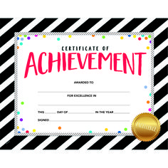 Recognize and celebrate students' achievements or special occasions with these Bold & Bright Certificate of Achievement Awards.