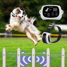 Portable Wireless Dog Fence System with Wireless Containment Rechargeble Collar #PETPOPO