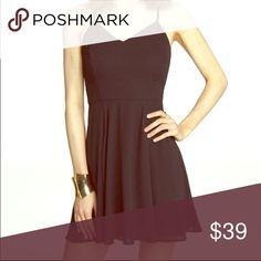 Express Black Vneck Slip Dress Only worn once to a formal! Very versatile - dress up or down 💕🌸 Express Dresses