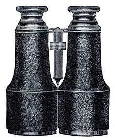 Vintage Clip Art - Binoculars - Steampunk - The Graphics Fairy
