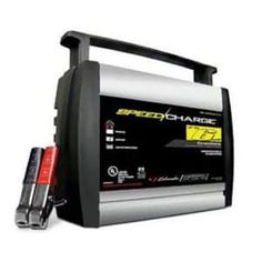 Schumacher is a 6 Amp fully automatic battery charger. The reverse hook-up protection feature provides added safety, making it so that the charger will not operate if the clamps are applied incorrectly and notifying you with a flashing LED indicator. Jump A Car Battery, Automatic Battery Charger, Lead Acid Battery, Tractor Battery, Schumacher, Car Audio, Lawn, Ebay, Laptop