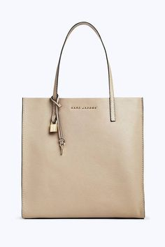 28b74298ae11 Marc Jacobs The Grind Shopper Tote Bag in Light Slate Pebbled Leather