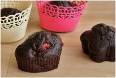 Pradobroty: Kakaové muffiny s jahodami