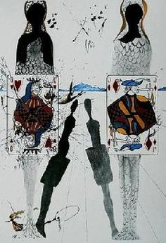 """The queen's croquet ground"". Salvador Dali Alices Adventures in Wonderland"