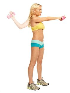 Celeb trainer Tracy Anderson gives you a sexy back and butt in 15 minutes. Try the Row and Twist in your next #workout