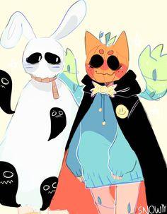 Spooky bois by Snowiitea on DeviantArt Fantasy Character Design, Character Drawing, Character Design Inspiration, Cute Art Styles, Cartoon Art Styles, Cute Animal Drawings, Cute Drawings, Furry Oc, Furry Drawing