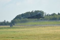 An F-22 Raptor assigned to the 95th Fighter Squadron at Tyndall Air Force Base, Fla., takes off from Spangdahlem Air Base, Germany, Thursday, Sept. 3, 2015. Four F-22s from Tyndall are training in Europe. Michael Abrams/Stars and Stripes