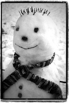 Snowman -- love the cute hair!