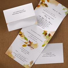 Leaf Swirl - Seal 'n Send - Wedding Invitation Ideas - Wedding Invites - Wedding Invitations - View a Proof Online - #weddings #wedding #invitations