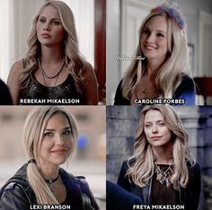 The Vampire Diaries & The Originals - some of the blonde female characters