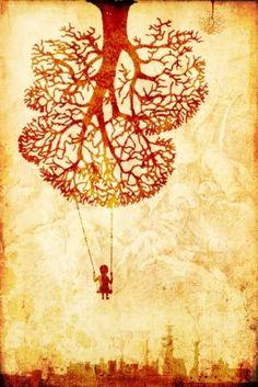 Afbeeldingsresultaat voor absurdist art fantasy. Ik wilde kijken wat voor fantasierijke beelden ik kan vinden. Het idee dat er een meisje aan een boom ondersteboven ziet en je een realistische stad op de achtergrond ziet vind ik mooi contrast.