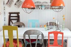 Eclectic Dining Room Design Ideas can be tricky spaces to decorate. If your dining area is an extension of the living room, you might be going for a look. Swedish Interior Design, Home Interior, Swedish Decor, Scandinavian Style, Orange Interior, Swedish Style, Swedish House, Nordic Design, Nordic Style