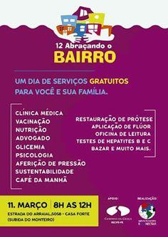 11/03 ♥ Mais de três mil pessoas serão atendidas em mutirão realizado pela ONG Reconectar ♥ Recife ♥ PE ♥  http://paulabarrozo.blogspot.com.br/2017/03/1103-mais-de-tres-mil-pessoas-serao.html