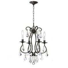 Sinclaire 4 Light Chandelier: now available at ballarddesigns.com...perhaps in different color