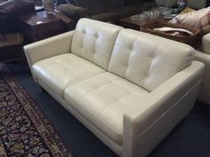 "Gorgeous set of leather furniture.  High quality Italian leather.   <br>						  Are You Looking For A Great Deal On Leather Furniture??  <br>    <br> This furniture is all high quality, top grain all leather.  NOT A BLEND or leatherette like you'd find at the cheap discount stores.  These pieces have leather on the sides and backs too, not just the seating surface.  <br> THIS STUFF IS THE REAL DEAL & IT""S BRAND SPANKIN NEW TOO!  <br> Now you can go to big box stores and buy this same leather…"