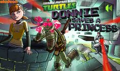 TMNT Donnie Saves A Princess game online