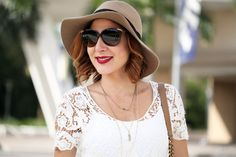 Blame-it-on-Mei-Fashion-Blogger-2016-Spring-Look-Outfit-Idea-Lace-Crochet-Top-Military-Olive-Green-Pants-Chanel-Boy-Closed-Wedges-Wide-Rim-Hat-Dainty-Necklace-D&G-Sunglasses