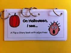 Halloween adjectives flip book