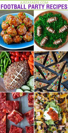 30+ Football Party Recipes #recipe #football