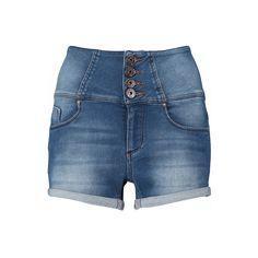 CoolCat short met high waist voor dames. De short heeft een strakke fit en een hoge taille met knoopsluiting. De short heeft twee steekzakken aan de voor- en achterkant.  Materiaal: 99% katoen/1% elasthan Stijl naam: WW AWAISTS16 Artikelcode: 2AF1267014