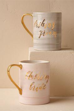 BHLDN Blushing Newlywed Mug in  Gifts & Décor  View All Décor   BHLDN