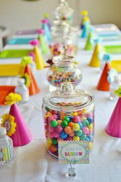 Taste the rainbow birthday table Rainbow Parties, Rainbow Birthday Party, Birthday Table, Birthday Parties, Rainbow Theme, Colorful Birthday, Birthday Ideas, Rainbow Colors, Rainbow Candy