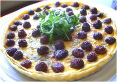 Anchovy, Carmalised Onion and Olive Tart with Parsley Salad - Ilse Nel - The Gourmet Princess Parsley Salad, Caramelized Onions, Meals For One, Pepperoni, Tart, Pizza, Thanksgiving, Lunch, Snacks