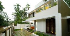6-cent-home-kakkodi-lawn Modern Villa Design, Kerala House Design, Kerala Houses, House Front Design, Modern Houses, My Dream Home, Modern Contemporary, Lawn, House Plans