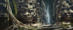 With the enormous bounty of exotic destinations in #Uncharted4, you may be surprised there were more to choose from than appeared in the game. One of these was an #Asian #jungle, where #NathanDrake would explore time-worn temples and #ruins, inspired by the ancient monuments of #Cambodia and #Bali. In the end, this powerful work by #NaughtyDog environmental artist #EytanZana did not make it into the game, but served as early exploration of what Uncharted 4 could be. #athiefsend