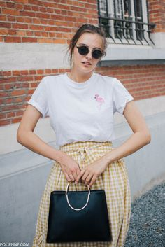 POLIENNE by Paulien Riemis | wearing an ASOS gingham skirt and Ted Baker bag in Antwerp, Belgium