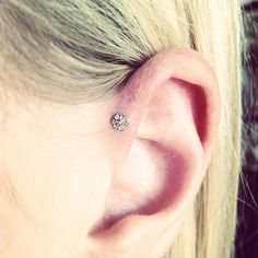 Adorable Forward Helix Piercing performed by Terrie at Pierced Hearts (Taken with Instagram at Pierced Hearts)