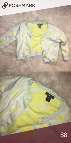 Adorable preppy cardigan 💕👶🏼 Soft baby gal cardigan sweater. Perfect for layering and over dresses 🙂 GAP Shirts & Tops Sweaters